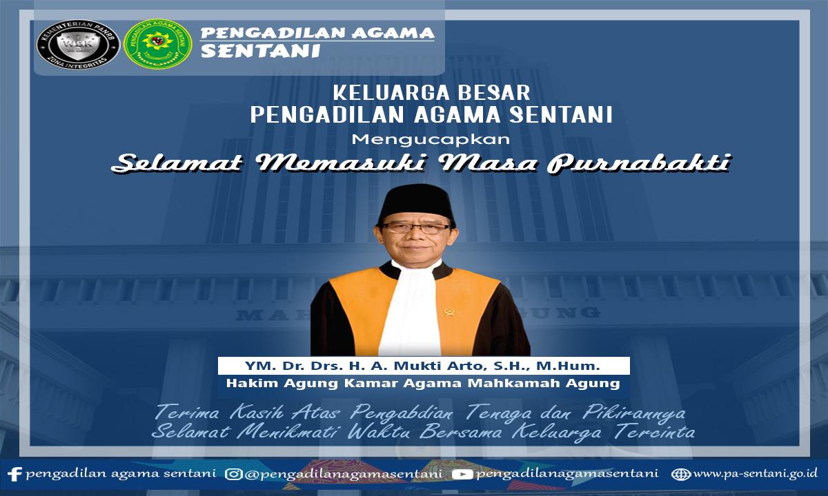 Selamat Memasuki Masa Purnabakti YM. Dr. Drs. H. A. Mukri Arto, S.H., M.Hum.